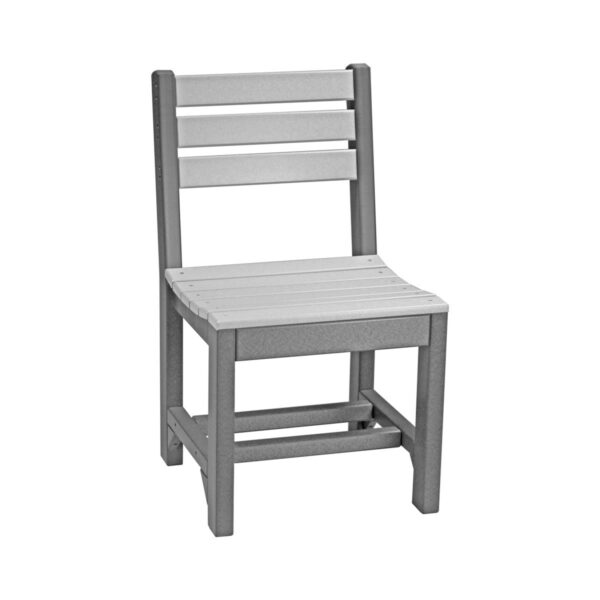 Island Side Chair (Dining Height Shown) - Dove Gray & Slate