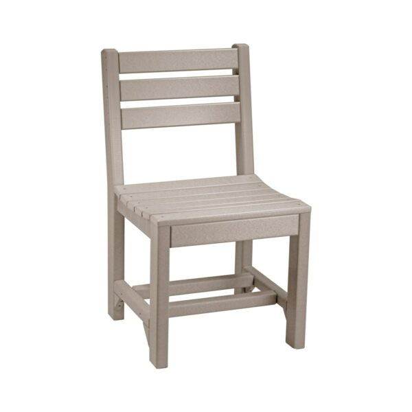 Island Side Chair (Dining Height Shown) - Weatherwood
