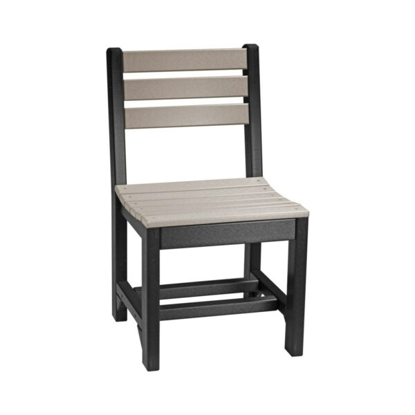 Island Side Chair (Dining Height Shown) - Weatherwood & Black
