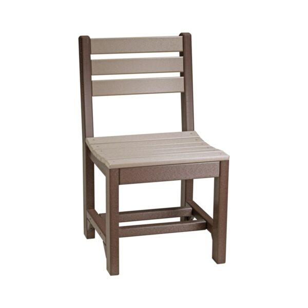 Island Side Chair (Dining Height Shown) - Weatherwood & Brown