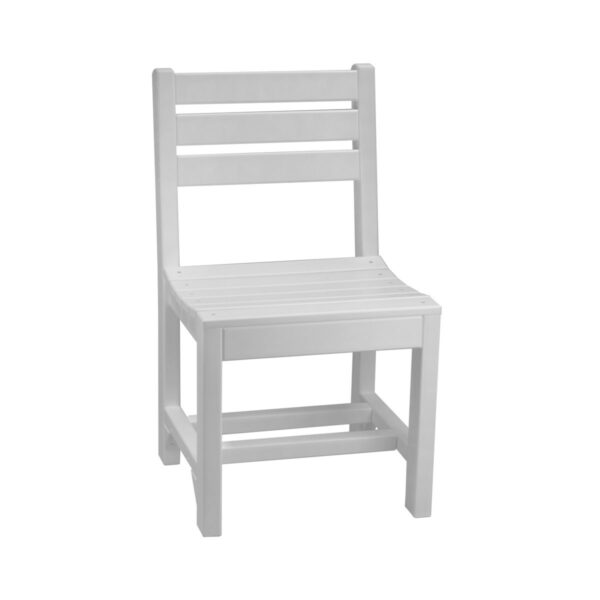 Island Side Chair (Dining Height Shown) - White