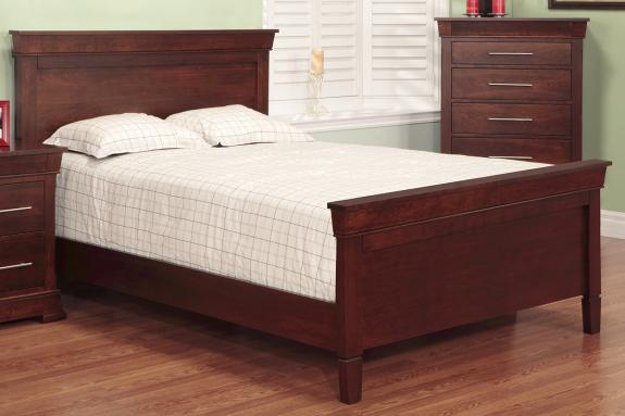 Kensington Queen Bed With High Footboard Solid Wood Beds