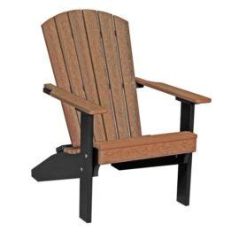Lakeside Adirondack Chair - Antique Mahogany & Black