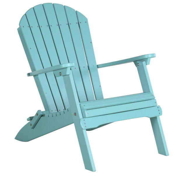 Folding Adirondack Chair - Aruba Blue