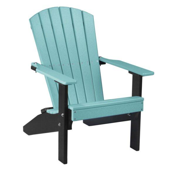 Lakeside Adirondack Chair - Aruba Blue & Black