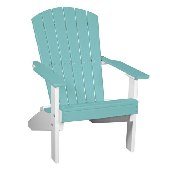 Lakeside Adirondack Chair - Aruba Blue & White
