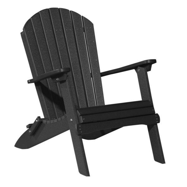 Folding Adirondack Chair - Black