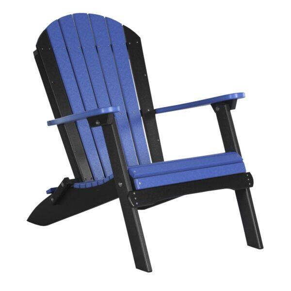 Folding Adirondack Chair - Blue & Black