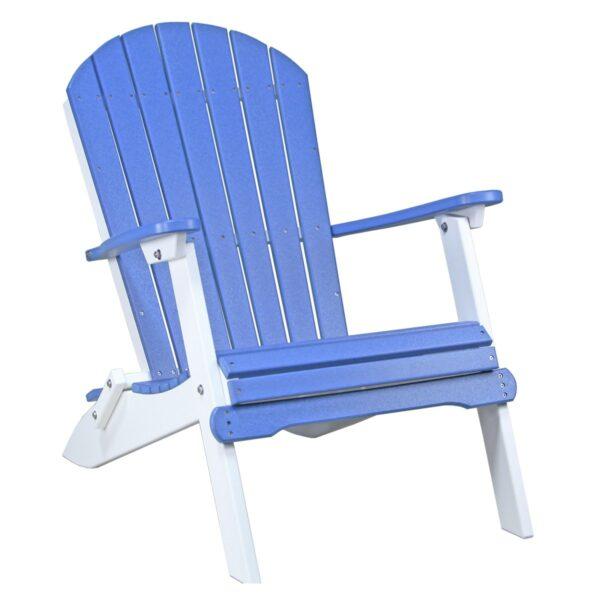 Folding Adirondack Chair - Blue & White