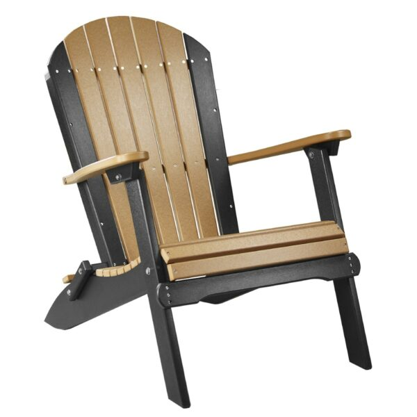Folding Adirondack Chair - Cedar & Black