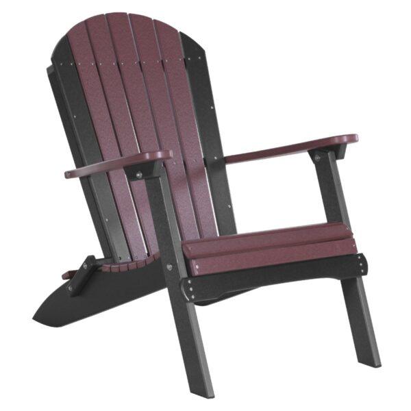 Folding Adirondack Chair - Cherry & Black