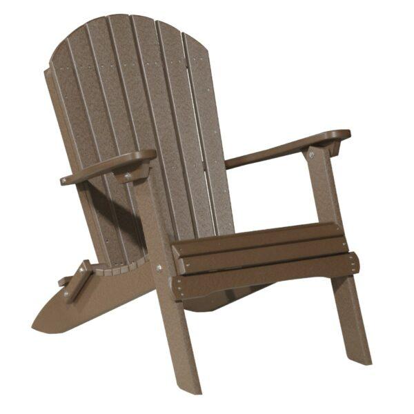 Folding Adirondack Chair - Chestnut Brown