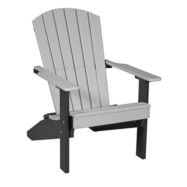 Lakeside Adirondack Chair - Dove Gray & Black