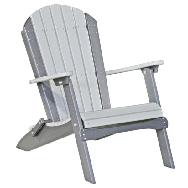 Folding Adirondack Chair - Dove Gray & Slate