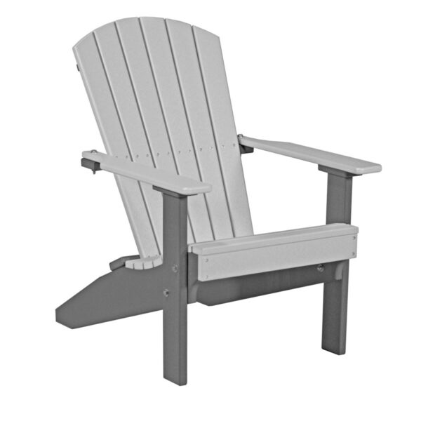 Lakeside Adirondack Chair - Dove Gray & Slate