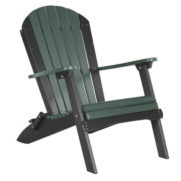 Folding Adirondack Chair - Green & Black
