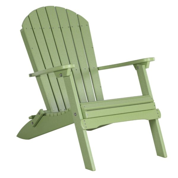 Folding Adirondack Chair - Lime Green