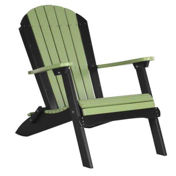 Folding Adirondack Chair - Lime Green & Black