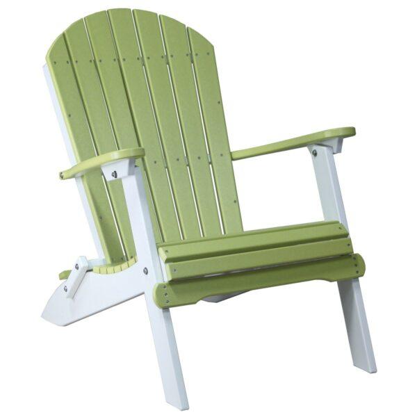 Folding Adirondack Chair - Lime Green & White