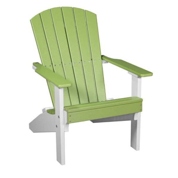 Lakeside Adirondack Chair - Lime Green & White