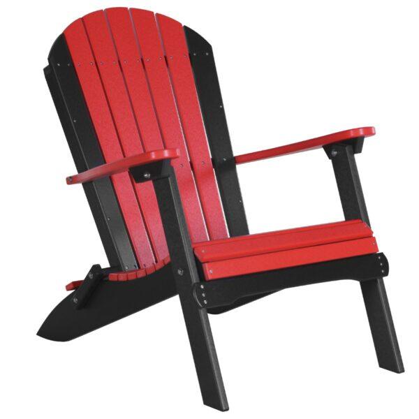 Folding Adirondack Chair - Red & Black