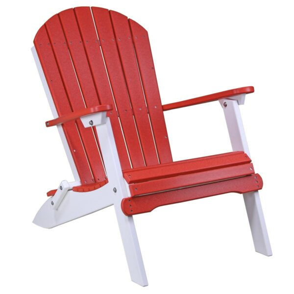 Folding Adirondack Chair - Red & White