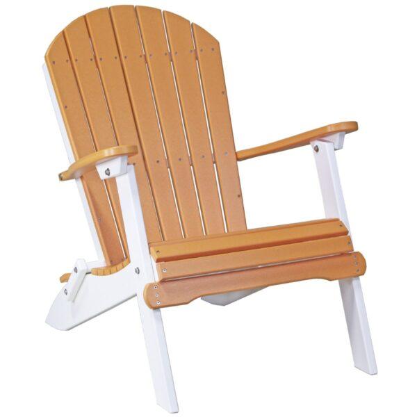 Folding Adirondack Chair - Tangerine & White