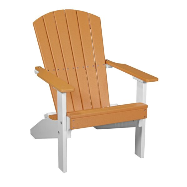 Lakeside Adirondack Chair - Tangerine & White