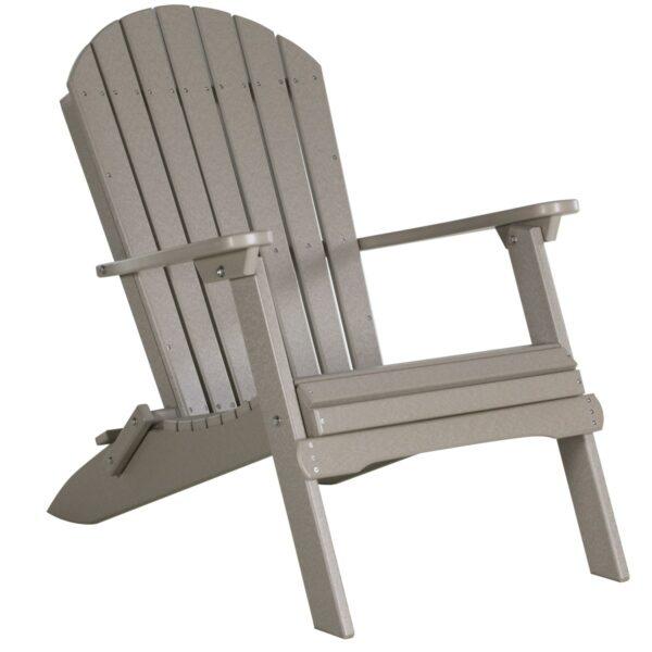 Folding Adirondack Chair - Weatherwood