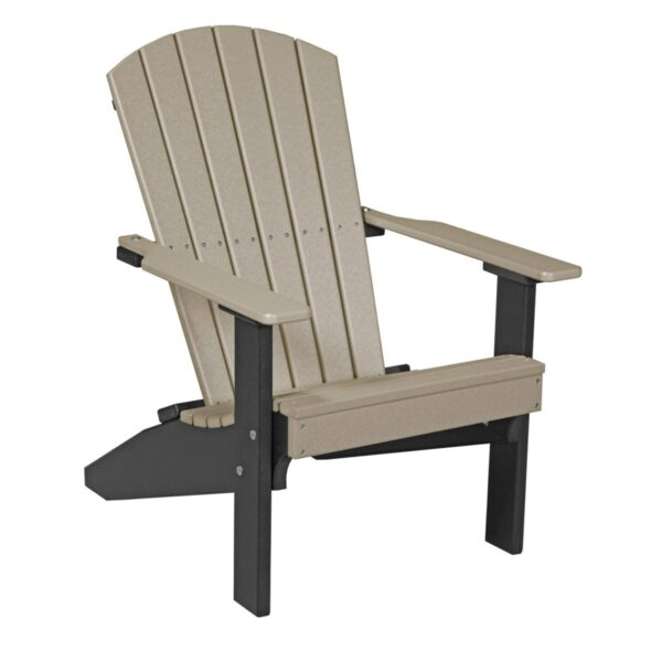 Lakeside Adirondack Chair - Weatherwood & Black