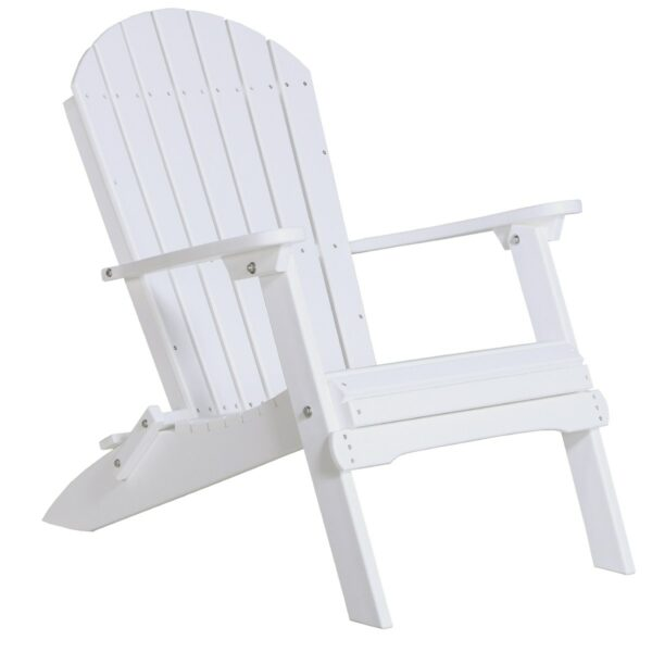 Folding Adirondack Chair - White