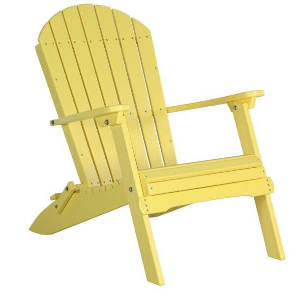 Folding Adirondack Chair - Yellow