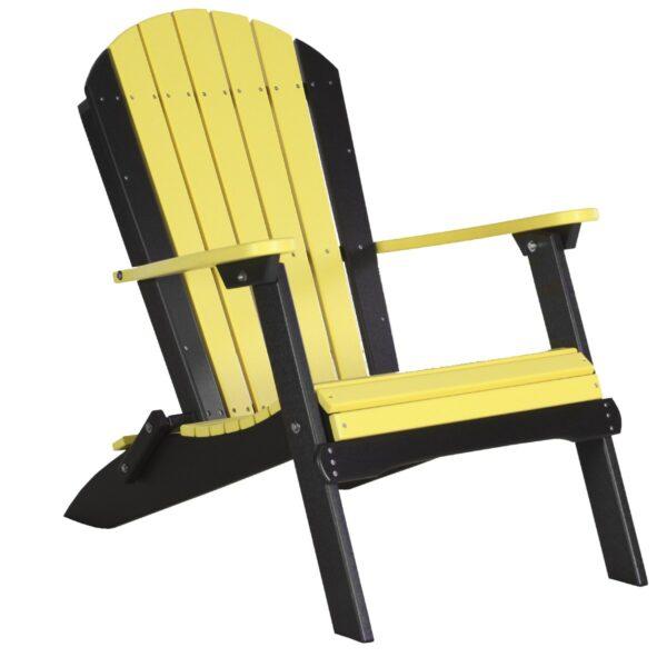 Folding Adirondack Chair - Yellow & Black