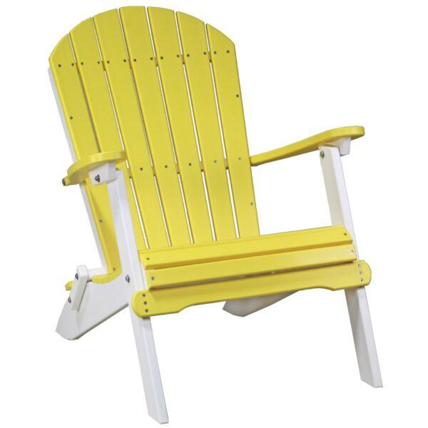 Folding Adirondack Chair - Yellow & White
