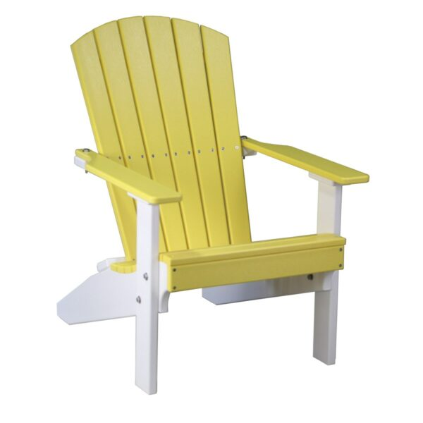 Lakeside Adirondack Chair - Yellow & White