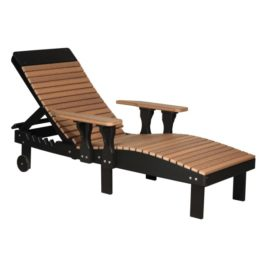 Lounge Chair - Antique Mahogany & Black