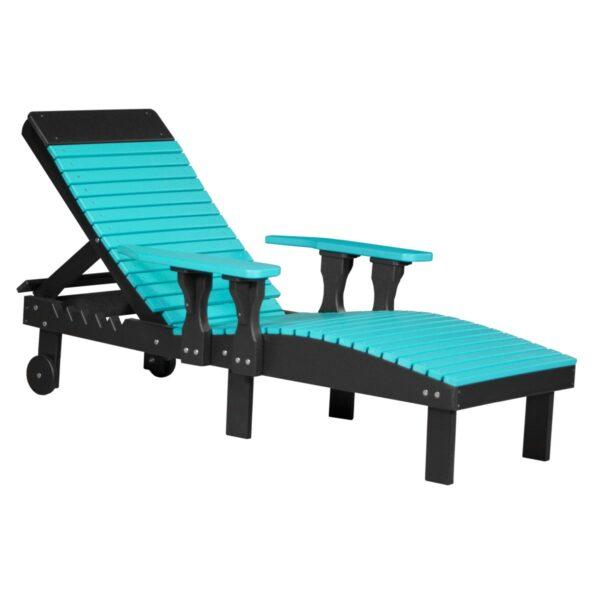 Lounge Chair - Aruba Blue & Black