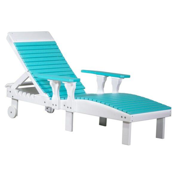 Lounge Chair - Aruba Blue & White