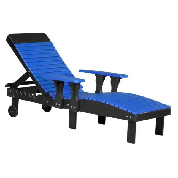 Lounge Chair - Blue & Black
