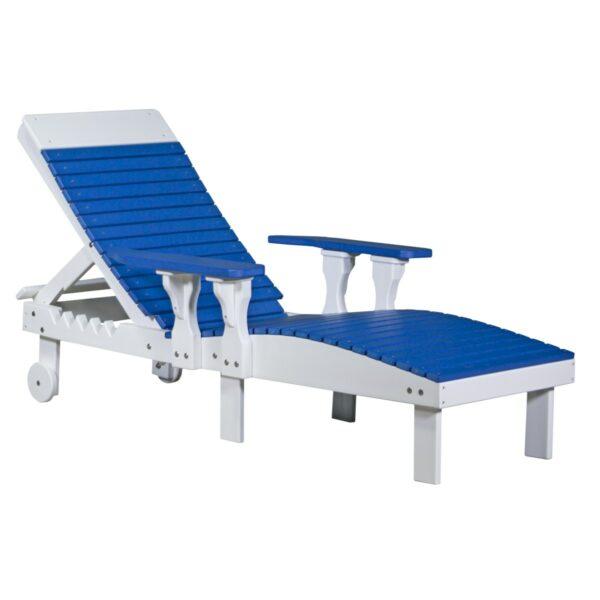 Lounge Chair - Blue & White