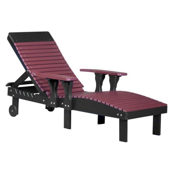 Lounge Chair - Cherry & Black