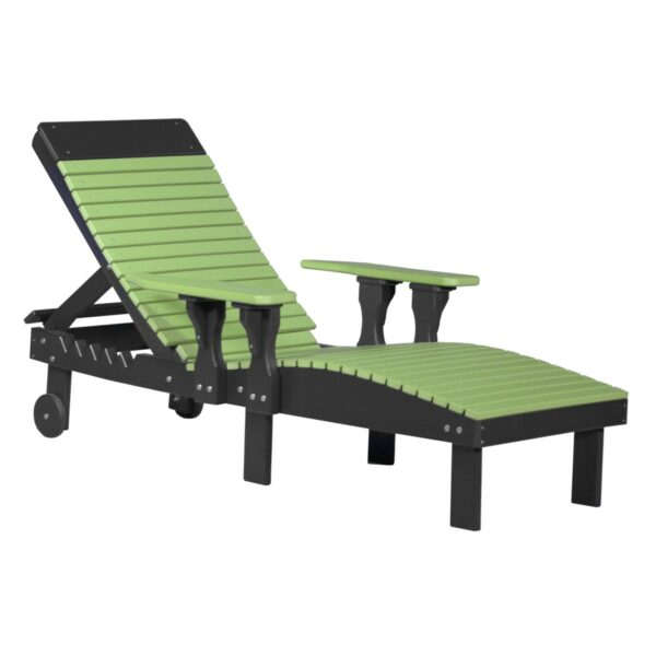 Lounge Chair - Lime Green & Black