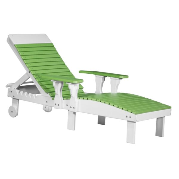 Lounge Chair - Lime Green & White