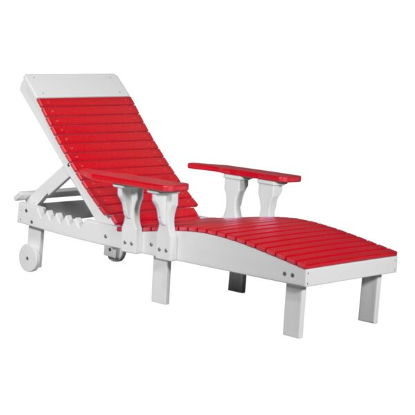 Lounge Chair - Red & White