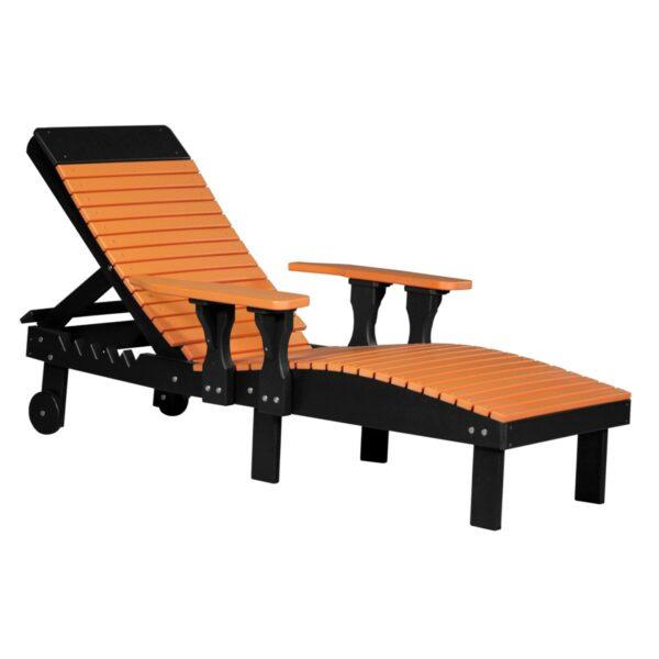 Lounge Chair - Tangerine & Black
