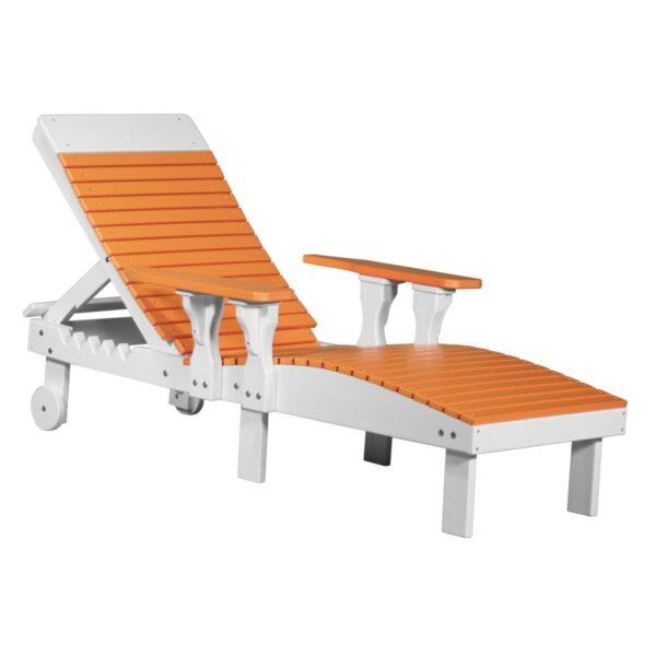 Lounge Chair - Tangerine & White
