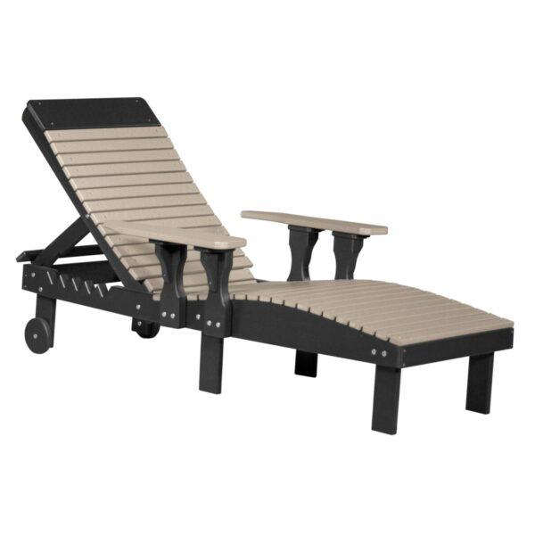 Lounge Chair - Weatherwood & Black