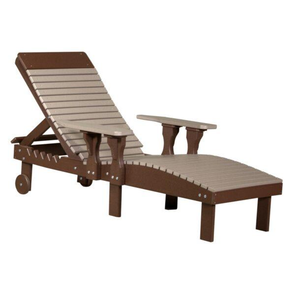 Lounge Chair - Weatherwood & Brown