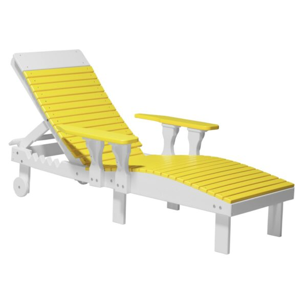 Lounge Chair - Yellow & White