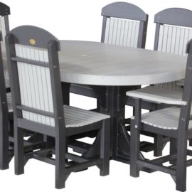 Oval Table 7-Piece Patio Dining Set (Shown in Dove Gray & Black)